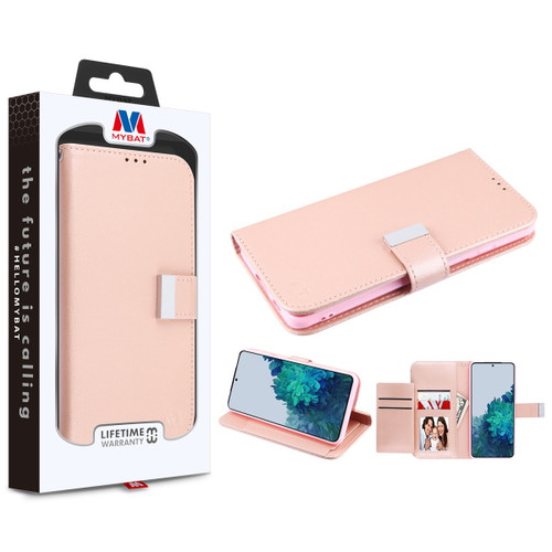 Galaxy S21 Cases - MyBat MyJacket Wallet Xtra Series for Samsung Galaxy S21 - Rose Gold