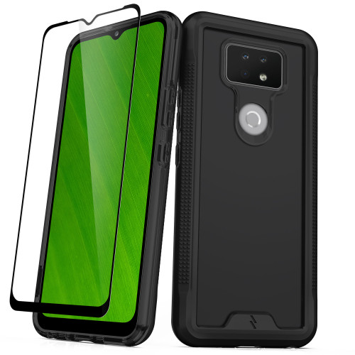 ZIZO ION Series for Cricket Ovation 2 Case - Military Grade Drop Tested with Tempered Glass Screen Protector - Black Smoke IONC-CKOV2-BKSM