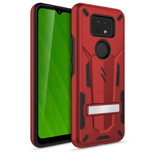 ZIZO TRANSFORM Series for Cricket Ovation 2 Case - Rugged Dual-layer Protection with Kickstand - Red TFM-CKOV2-RDBK