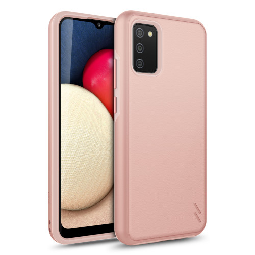 ZIZO REALM Series for Galaxy A02s Case - Sleek Modern Protection - Rose Gold RLM-SAMGA02S-RGD