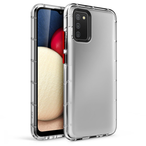 ZIZO SURGE Series for Galaxy A02s Case - Sleek Clear Case Customizable Buttons - Clear SUR-SAMGA02S-CL