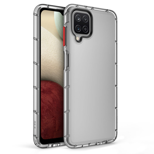 ZIZO SURGE Series for Galaxy A12 Case - Sleek Clear Case Customizable Buttons - Clear SUR-SAMGA12-CL