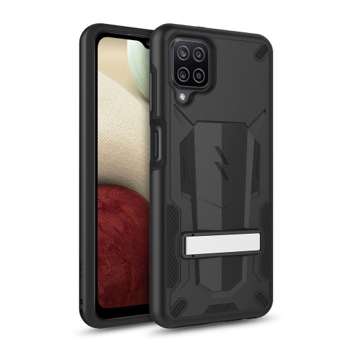 ZIZO TRANSFORM Series for Galaxy A12 Case - Rugged Dual-layer Protection with Kickstand - Black TFM-SAMGA12-BKBK