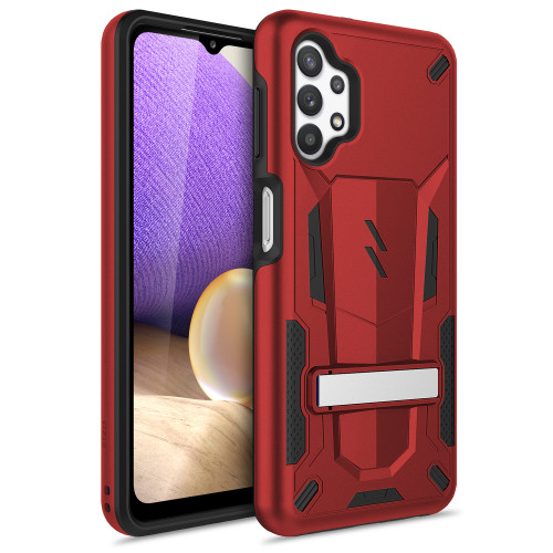 ZIZO TRANSFORM Series for Galaxy A32 5G Case - Rugged Dual-layer Protection with Kickstand - Red TFM-SAMGA32-RDBK