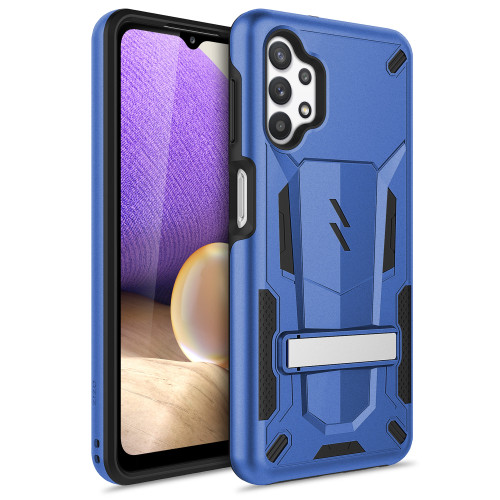 ZIZO TRANSFORM Series for Galaxy A32 5G Case - Rugged Dual-layer Protection with Kickstand - Blue TFM-SAMGA32-BLBK