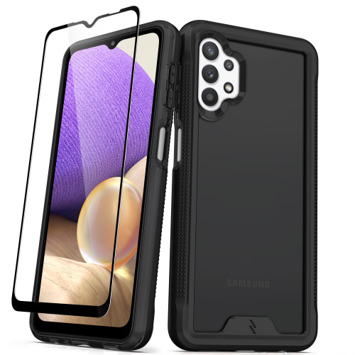 ZIZO ION Series for Galaxy A32 5G Case - Military Grade Drop Tested with Tempered Glass Screen Protector - Black Smoke IONC-SAMGA32-BKSM
