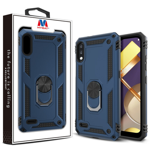 MyBat Anti-Drop Hybrid Protector Case (with Ring Stand) for LG K22 - Ink Blue / Black