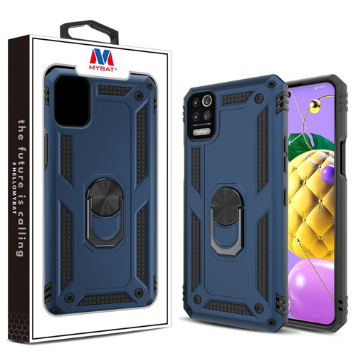MyBat Anti-Drop Hybrid Protector Case (with Ring Stand) for LG K53 - Ink Blue / Black