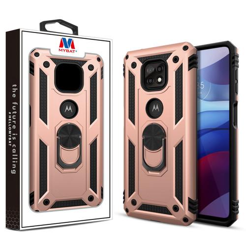 MyBat Anti-Drop Hybrid Protector Case (with Ring Stand) for Motorola Moto G Power (2021) - Rose Gold / Black