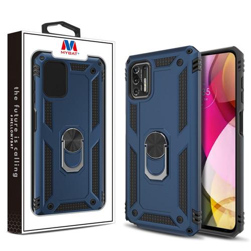 MyBat Anti-Drop Hybrid Protector Case (with Ring Stand) for Motorola Moto G Stylus (2021) - Ink Blue / Black