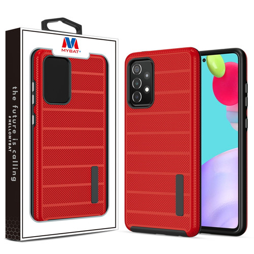 MyBat Fusion Protector Case for Samsung Galaxy A52 5G - Red Dots Textured / Black