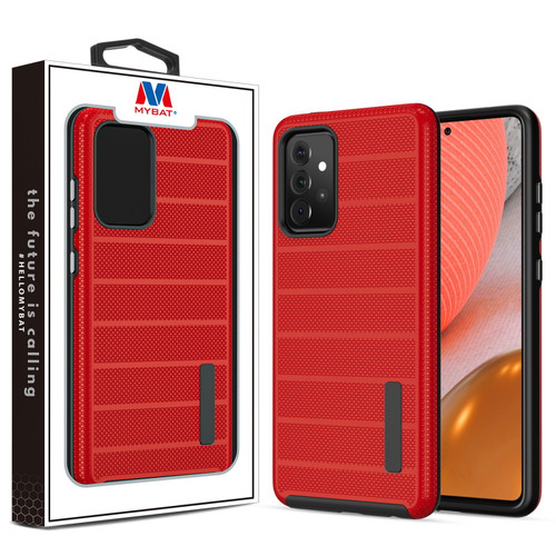 MyBat Fusion Protector Case for Samsung Galaxy A72 5G - Red Dots Textured / Black