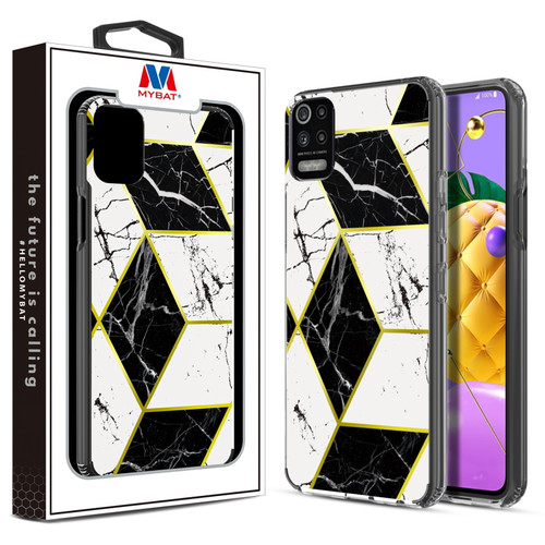 MyBat Fusion Protector Cover for LG K53 / K52 - Electroplated Black Marbling