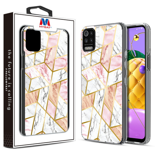 MyBat Fusion Protector Cover for LG K53 / K52 - Electroplated Pink Marbling