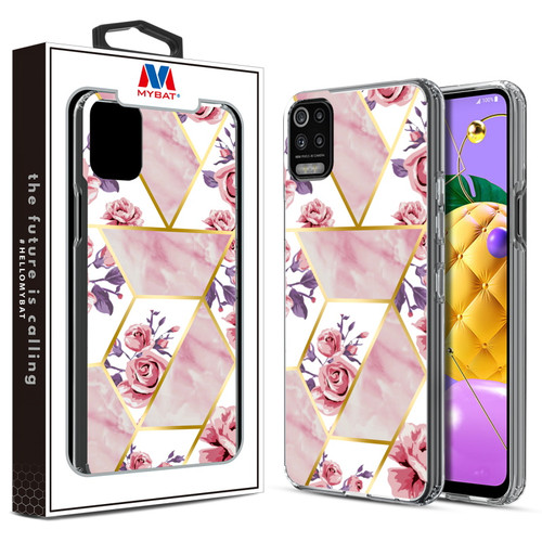 MyBat Fusion Protector Cover for LG K53 / K52 - Electroplated Roses Marbling