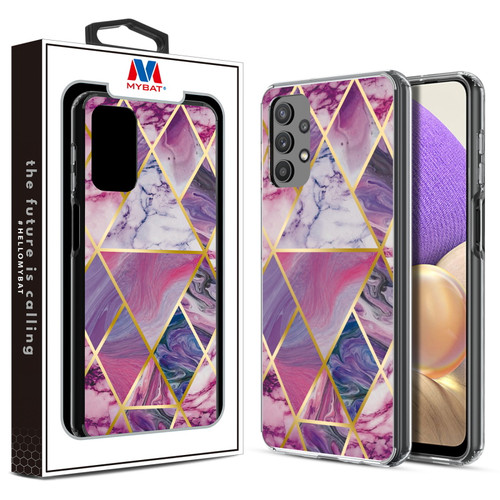 MyBat Fusion Protector Cover for Samsung Galaxy A32 5G - Electroplated Purple Marbling