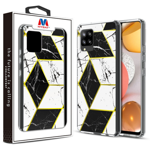 MyBat Fusion Protector Cover for Samsung Galaxy A42 5G - Electroplated Black Marbling