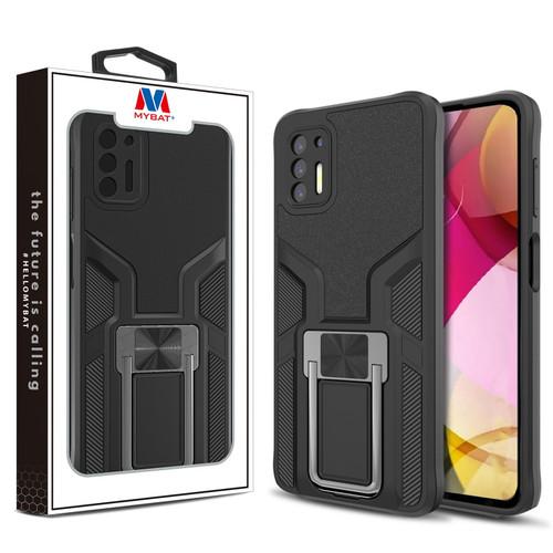 MyBat Hybrid Protector Case (with Ring Stand) for Motorola Moto G Stylus (2021) - Black / Black