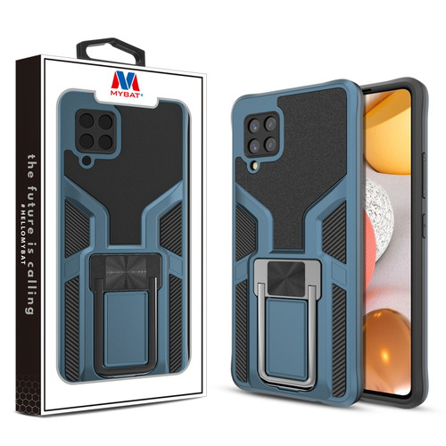 MyBat Hybrid Protector Case (with Ring Stand) for Samsung Galaxy A42 5G - Blue / Black