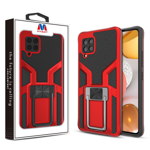 MyBat Hybrid Protector Case (with Ring Stand) for Samsung Galaxy A42 5G - Red / Black
