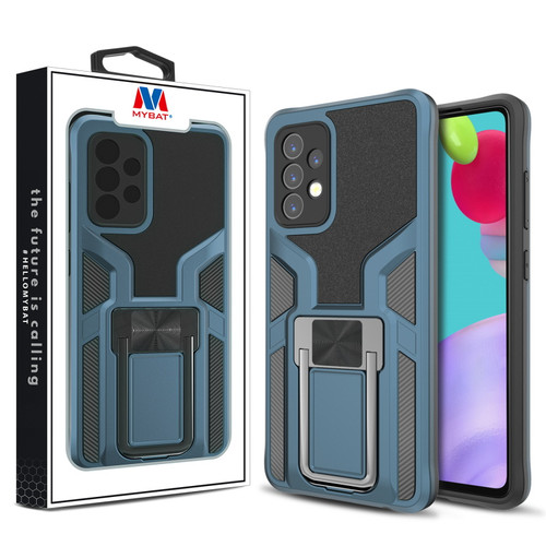 MyBat Hybrid Protector Case (with Ring Stand) for Samsung Galaxy A52 5G - Blue / Black