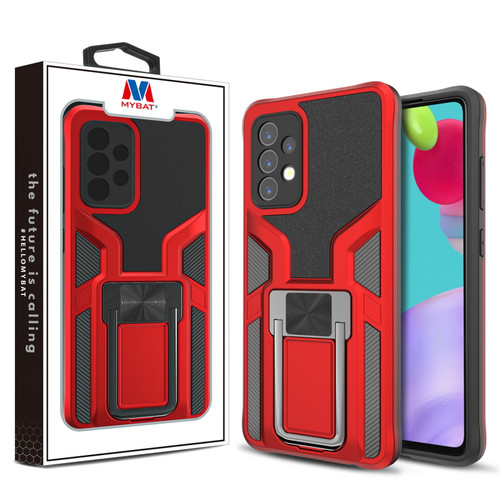 MyBat Hybrid Protector Case (with Ring Stand) for Samsung Galaxy A52 5G - Red / Black