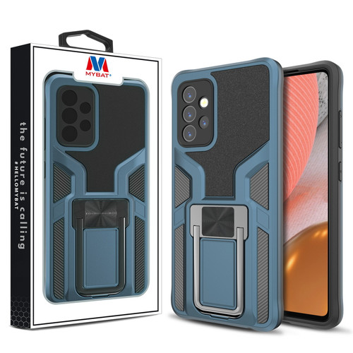 MyBat Hybrid Protector Case (with Ring Stand) for Samsung Galaxy A72 5G - Blue / Black