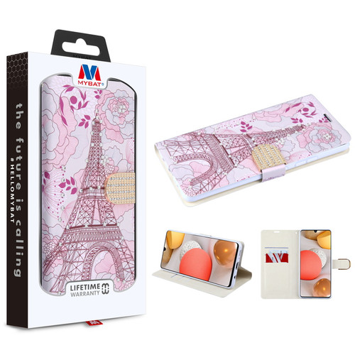 MyBat MyJacket Wallet Diamond Series for Samsung Galaxy A42 5G - Eiffel Tower