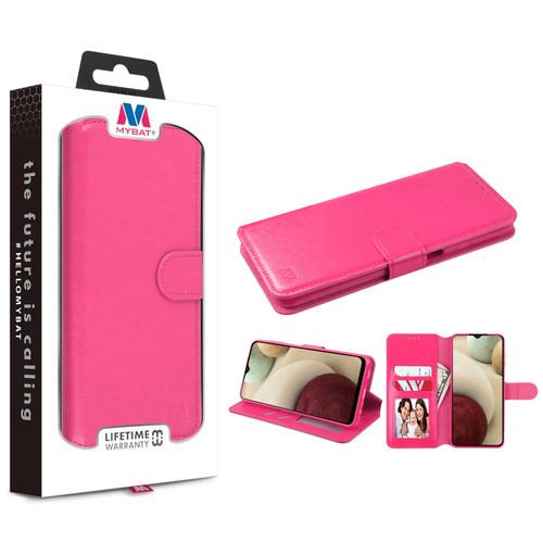 MyBat MyJacket Wallet Element Series for Samsung Galaxy A12 - Hot Pink