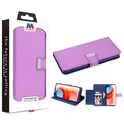 MyBat MyJacket Wallet Xtra Series for Motorola Moto G Play (2021) - Purple / Dark Blue