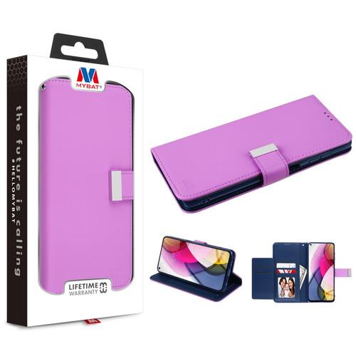 MyBat MyJacket Wallet Xtra Series for Motorola Moto G Stylus (2021) - Purple / Dark Blue