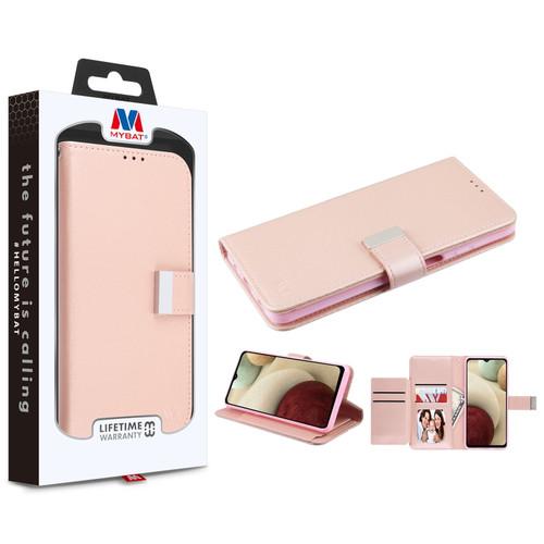 MyBat MyJacket Wallet Xtra Series for Samsung Galaxy A12 - Rose Gold