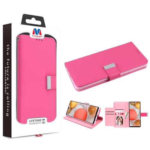 MyBat MyJacket Wallet Xtra Series for Samsung Galaxy A42 5G - Hot Pink / Pink