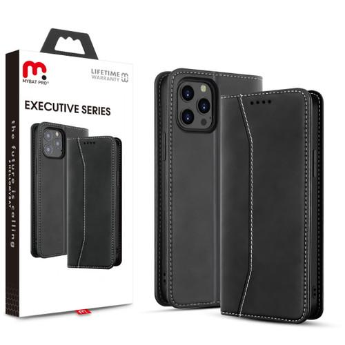 MyBat Pro Executive Series Wallet Case for Apple iPhone 12 Pro Max (6.7) - Black