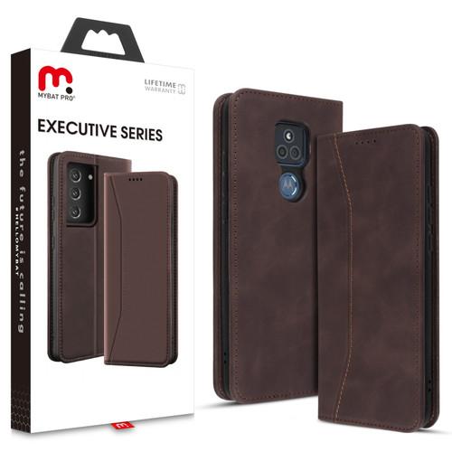 MyBat Pro Executive Series Wallet Case for Motorola Moto G Play (2021) - Brown