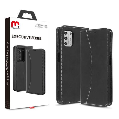 MyBat Pro Executive Series Wallet Case for Motorola Moto G Stylus (2021) - Black