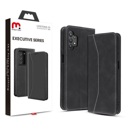 MyBat Pro Executive Series Wallet Case for Samsung Galaxy A32 5G - Black