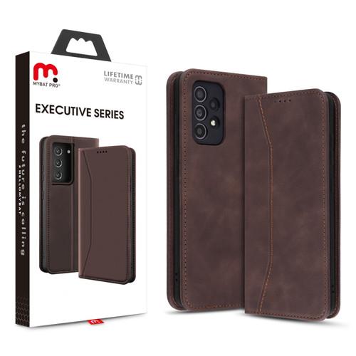 MyBat Pro Executive Series Wallet Case for Samsung Galaxy A52 5G - Brown