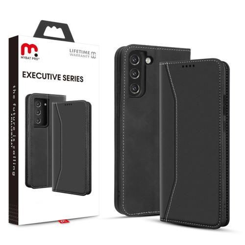 MyBat Pro Executive Series Wallet Case for Samsung Galaxy S21 Plus - Black
