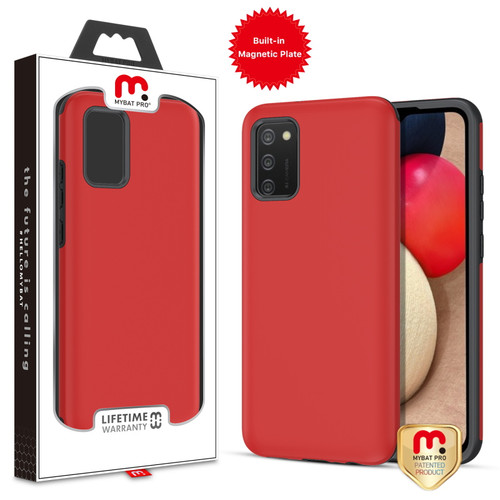 MyBat Pro Fuse Series Case with Magnet for Samsung Galaxy A02s - Red