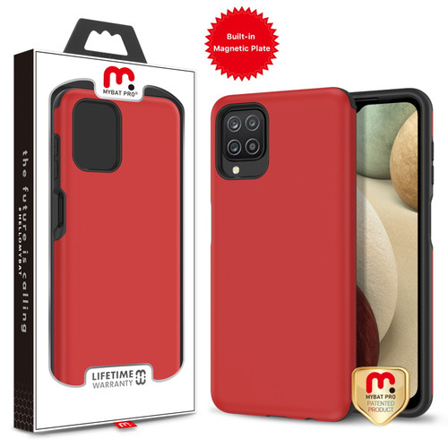 MyBat Pro Fuse Series Case with Magnet for Samsung Galaxy A12 - Red