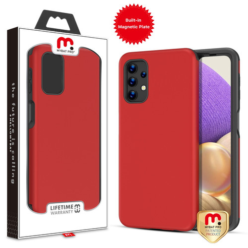 MyBat Pro Fuse Series Case with Magnet for Samsung Galaxy A32 5G - Red
