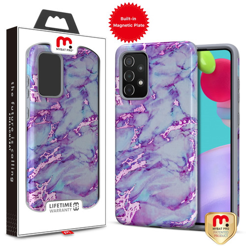 MyBat Pro Fuse Series Case with Magnet for Samsung Galaxy A52 5G - Purple Marble