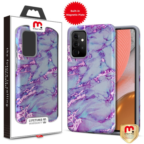 MyBat Pro Fuse Series Case with Magnet for Samsung Galaxy A72 5G - Purple Marble
