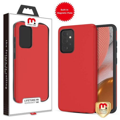 MyBat Pro Fuse Series Case with Magnet for Samsung Galaxy A72 5G - Red
