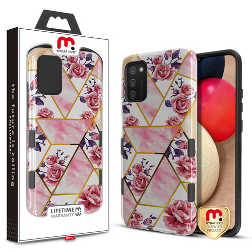MyBat Pro TUFF Subs Series Case for Samsung Galaxy A02s - Rose Marble