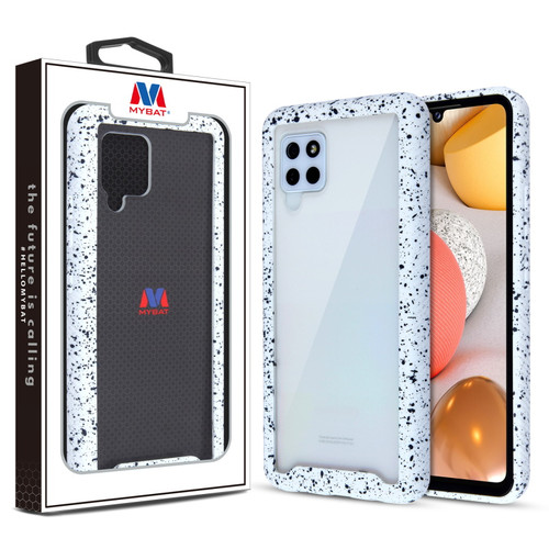 MyBat Splash Hybrid Case for Samsung Galaxy A42 5G - Highly Transparent Clear / White