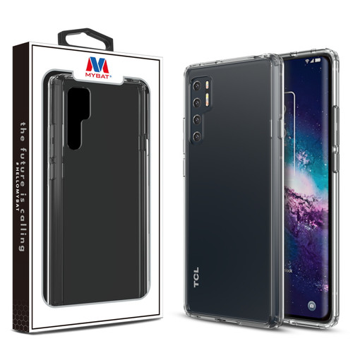 MyBat Sturdy Gummy Cover for T-mobile TCL 20 Pro 5G - Highly Transparent Clear / Transparent Clear