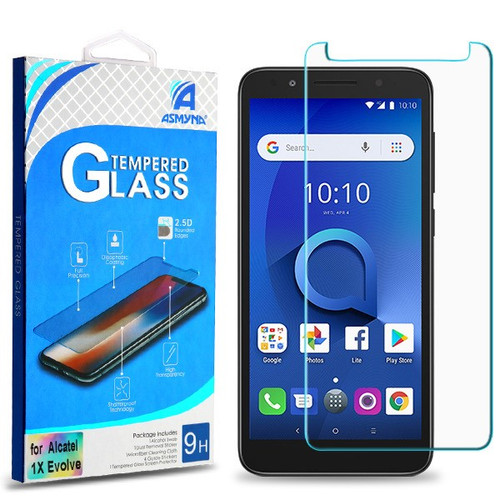 Asmyna Tempered Glass Screen Protector (2.5D) for Alcatel 1X Evolve/5059R (Ideal Xtra) / Avalon V - Clear
