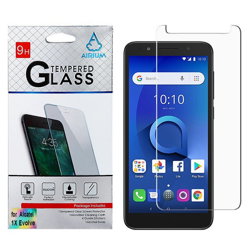 Airium Tempered Glass Screen Protector (2.5D) for Alcatel 1X Evolve/5059R (Ideal Xtra) / Avalon V - Clear